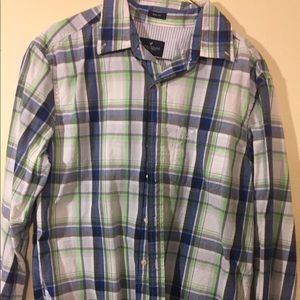 American Eagle prep fit button up shirt